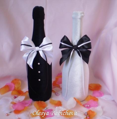 Украшения для бутылок шампанского своими руками фото